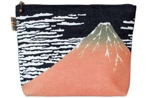 真田紐デニムポーチカラープリント/凱風快晴