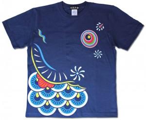 こいのぼりTシャツ/インディゴ前面
