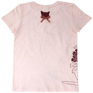 猫Tシャツ/ベビーピンク背面