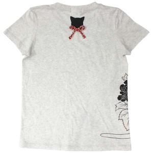 猫Tシャツ/オートミール背面