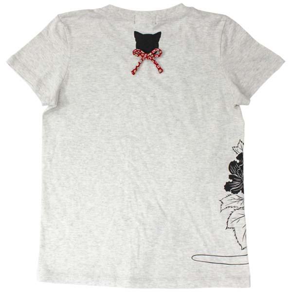 猫Tシャツ/オートミール/後
