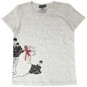猫Tシャツ/オートミール前面