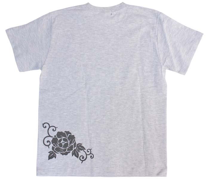 鯨Tシャツ/アッシュグレー/後