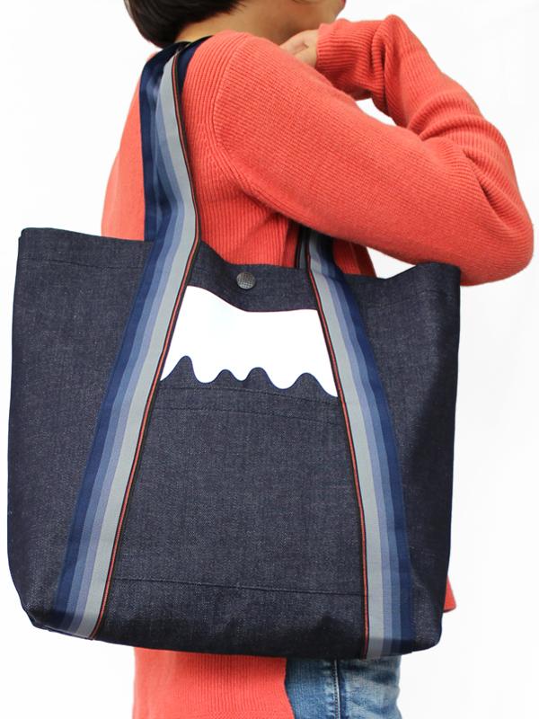 畳縁富士山バッグ
